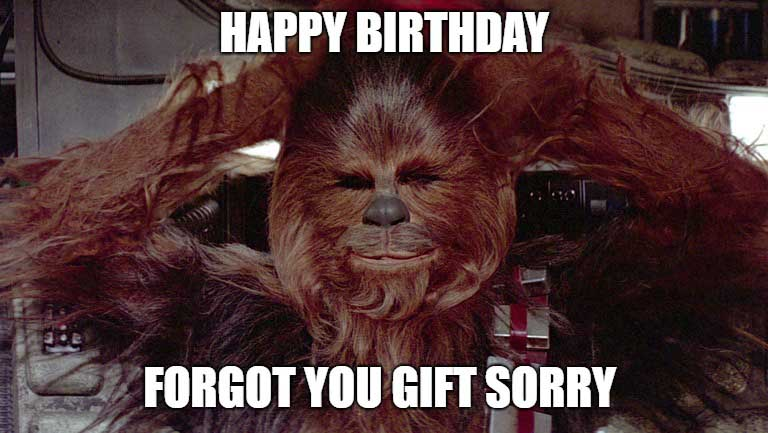 star wars birthday meme funny Chewbacca