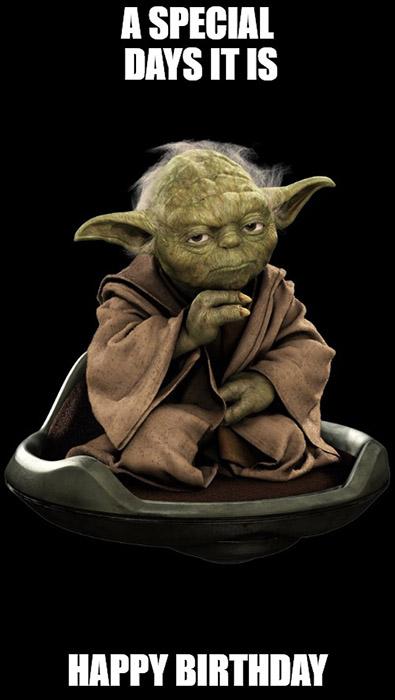 star wars yoda happy birthday meme a special days it is