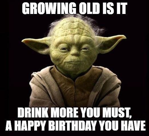 star wars yoda happy birthday meme funny