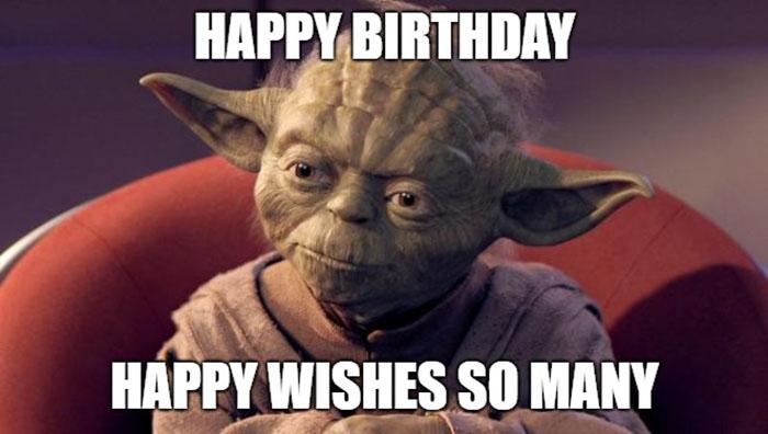 star wars yoda happy birthday meme hilarious