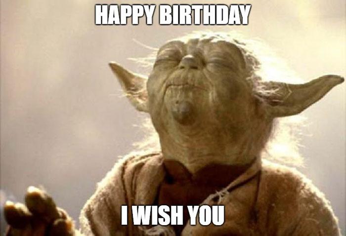 star wars yoda happy birthday meme i wish you