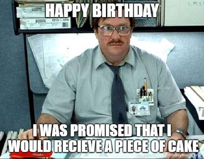 the office piece of cake birthday meme