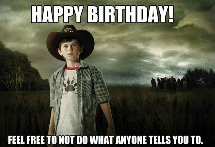 walking dead birthday meme Carl grimes