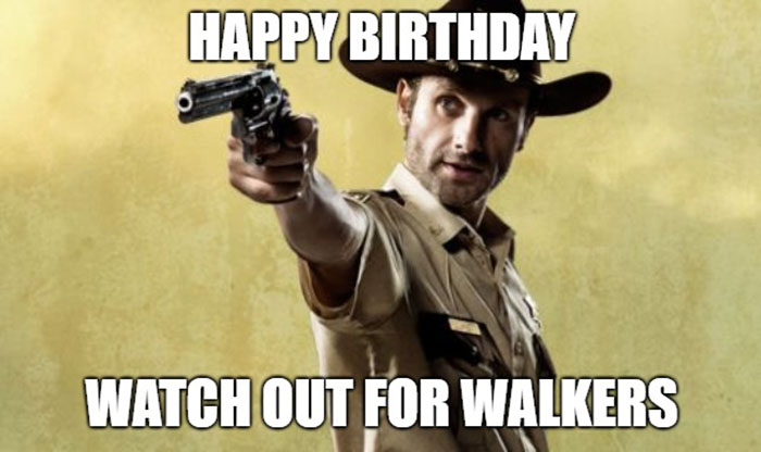 walking dead happy birthday meme Rick Grimes