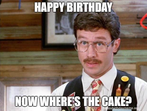where is the cake birthday meme