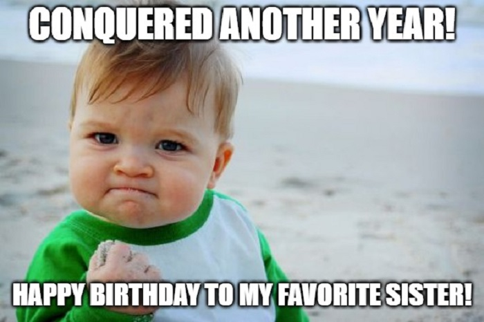 happy birthday memes sister baby