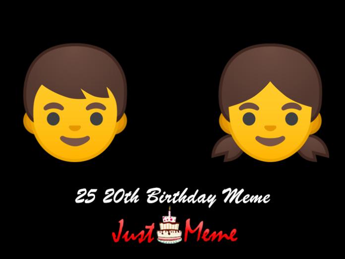 25 20th Birthday Meme