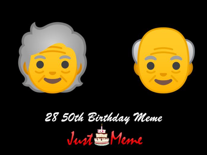 28 50th Birthday Meme