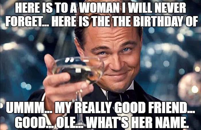 birthday friend meme for her