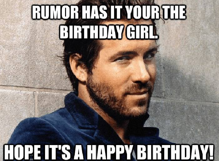 cute birthday meme for her