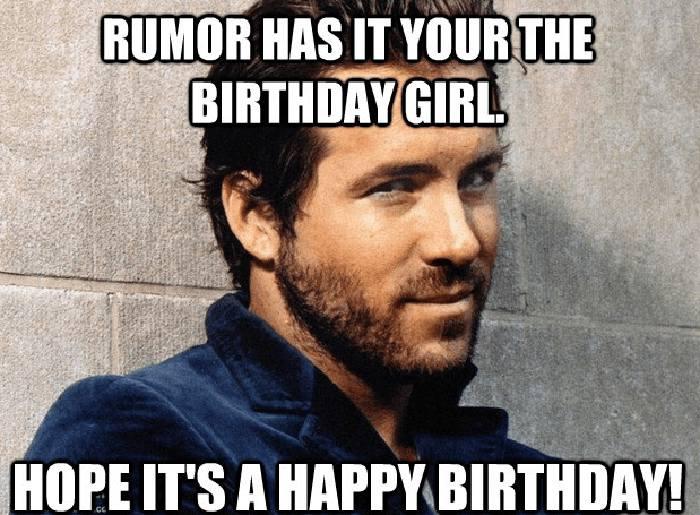 cute birthday meme for her