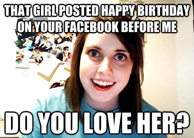 cute happy birthday meme for her
