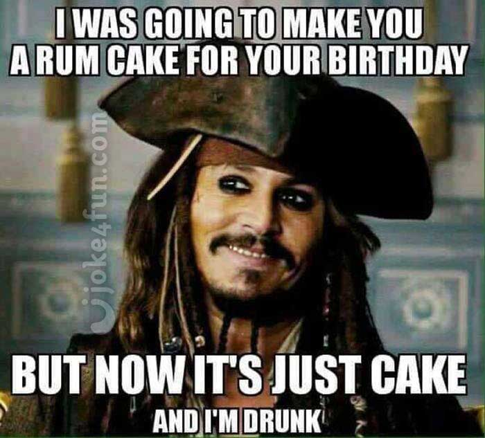 funny happy birthday meme for her jack sparrow