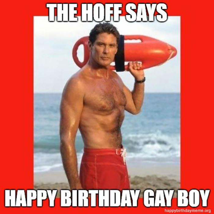 happy birthday gay memes hoff baywatch