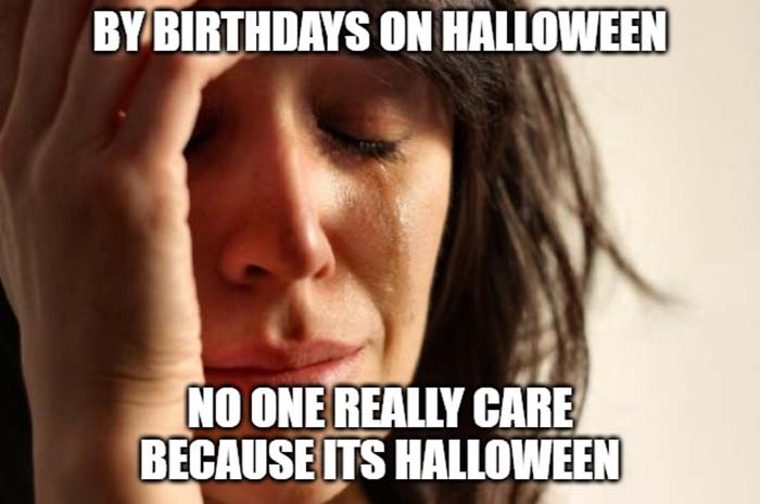 So Your Birthday is on Halloween