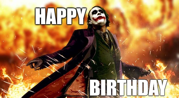 batman birthday meme - Joker
