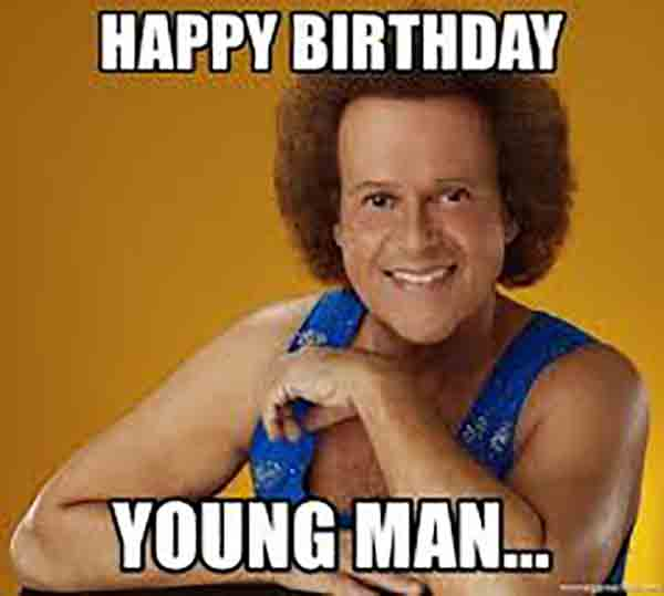 birthday memes for young men