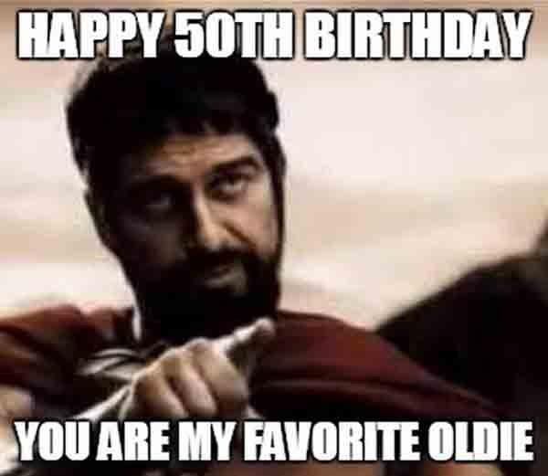 funny 50th birthday memes for men