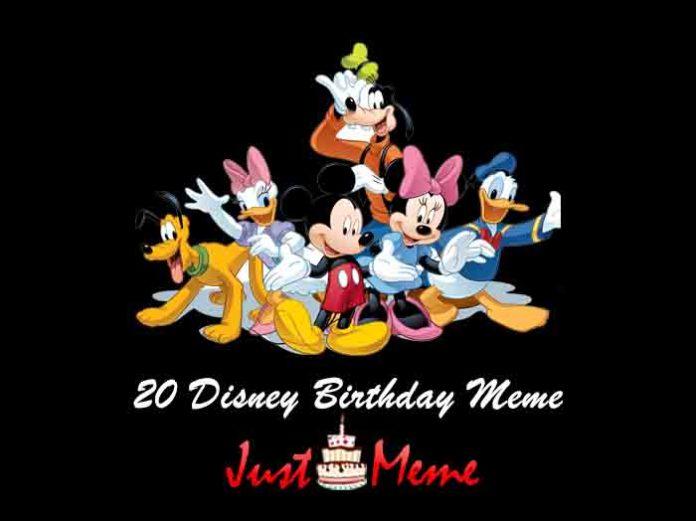 20 Disney Birthday Meme