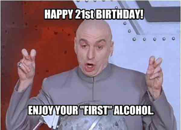 21st happy birthday meme