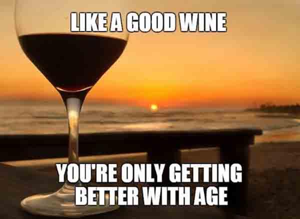 birthday meme better with wine