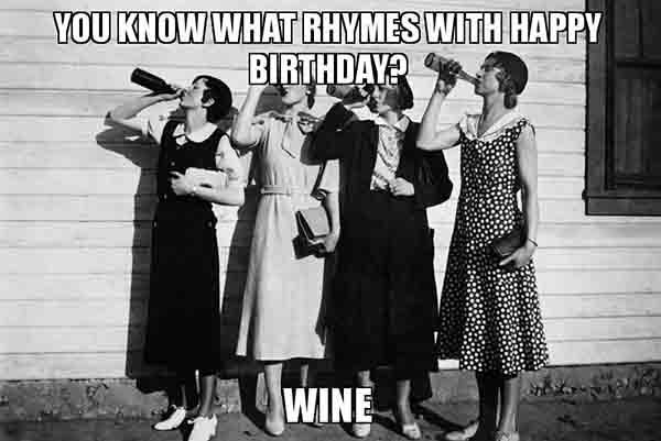 birthday meme wine