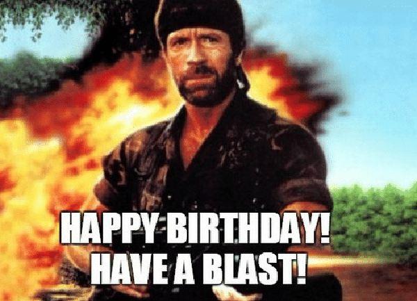 chuck norris happy birthday meme