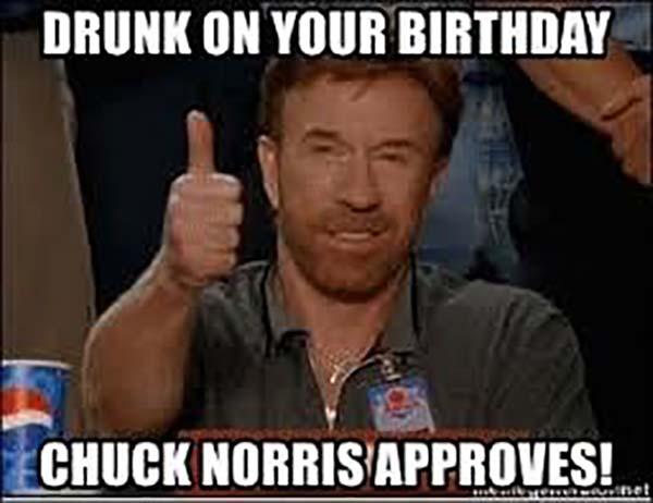 chuck norris meme birthday