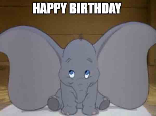 disney birthday meme dumbo