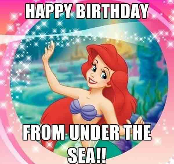 disney happy birthday meme for little girl