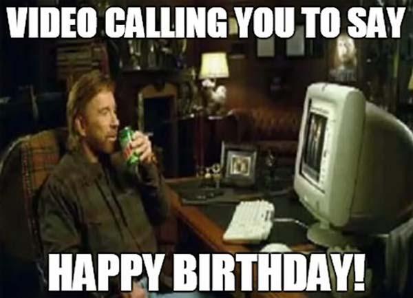 funny happy birthday chuck norris meme