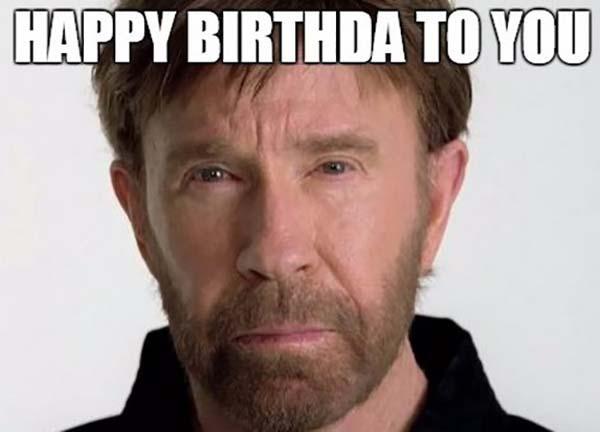 funny happy birthday meme chuck norris