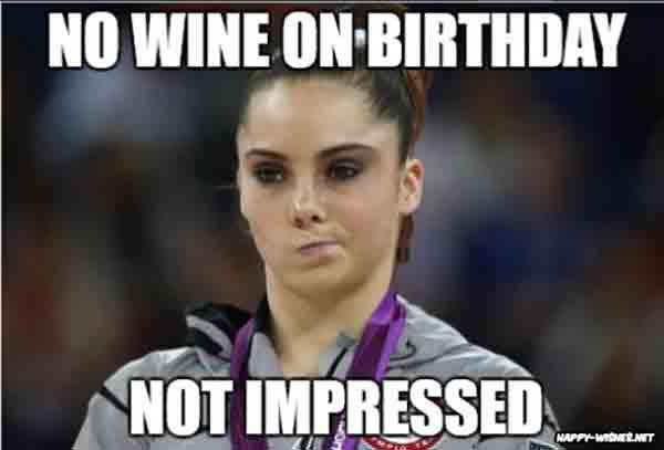 funny wine birthday meme