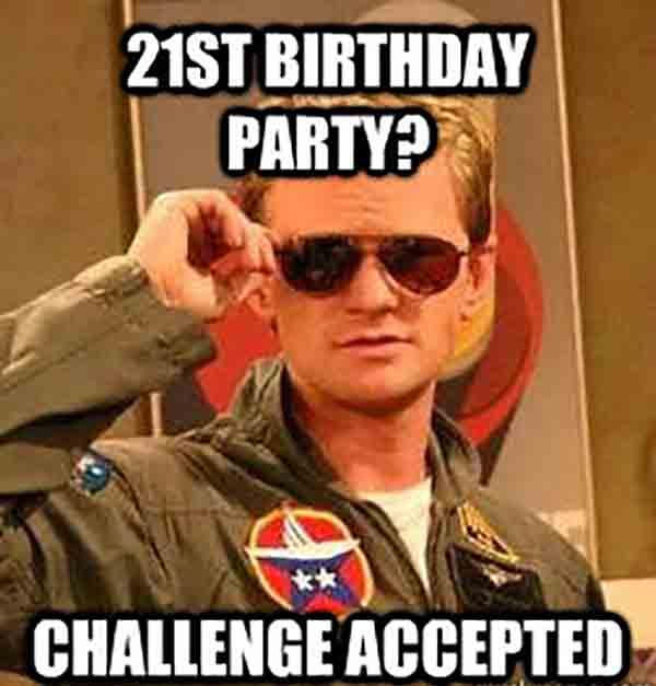 happy 21st birthday funny meme
