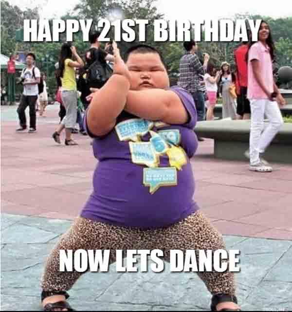 happy 21st birthday meme for her