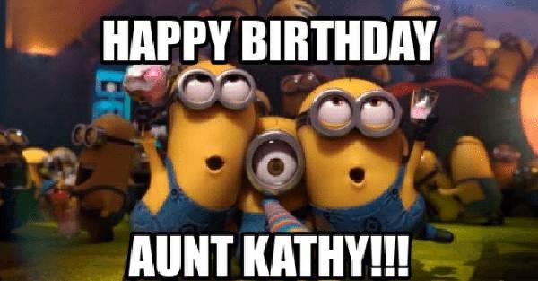 happy birthday aunt kathy meme