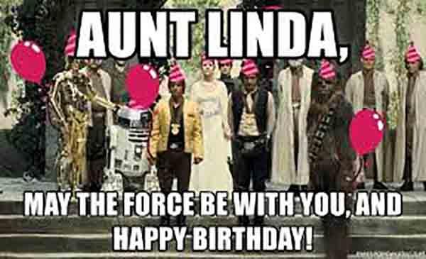 happy birthday aunt linda meme