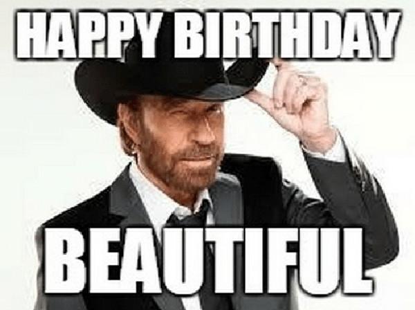 happy birthday chuck norris meme
