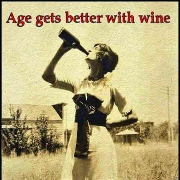 happy birthday friend meme wine