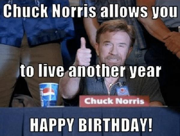 happy birthday meme chuck norris