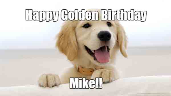 happy birthday mike meme with a dog
