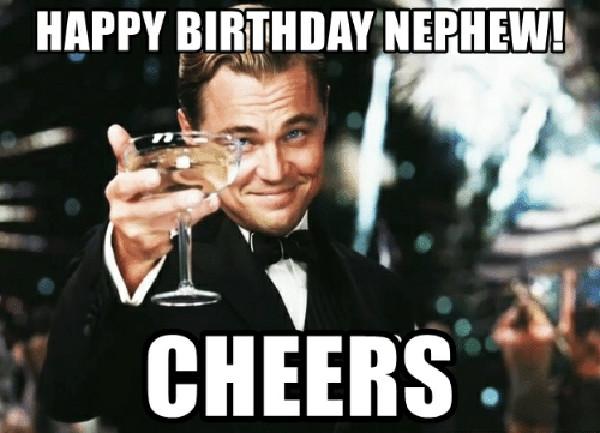 happy birthday nephew drink meme