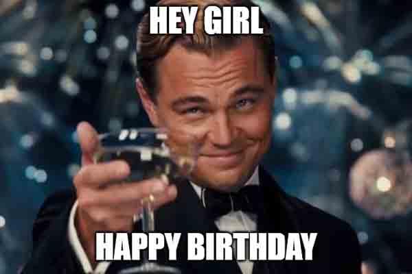 meme happy birthday woman wine