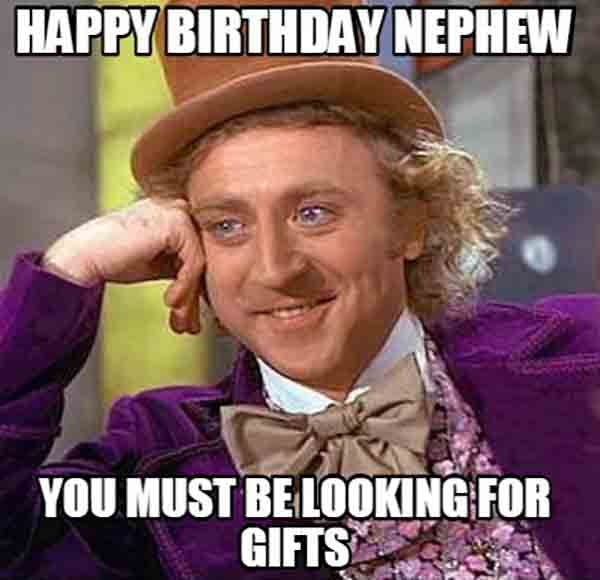 meme of happy birthday nephew