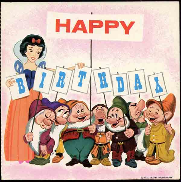 vintage disney birthday meme