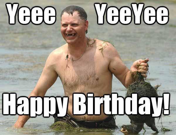 funny fishing happy birthday meme
