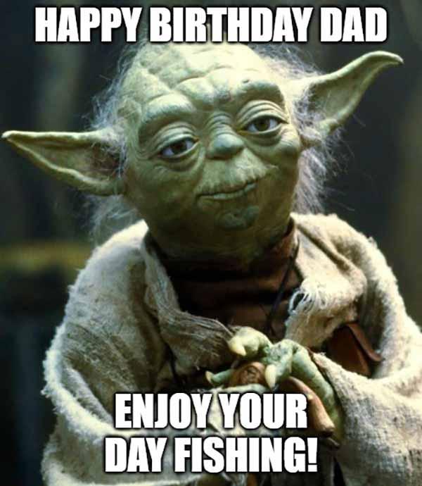 happy birthday fishing dad meme