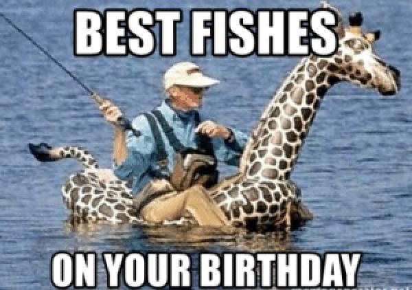 happy birthday funny fishing meme