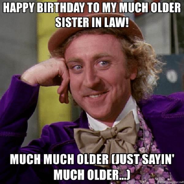 happy birthday meme for sister in law