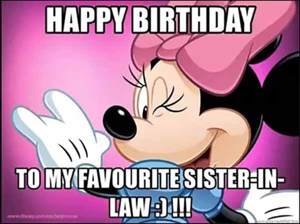 happy birthday sister in law meme funny